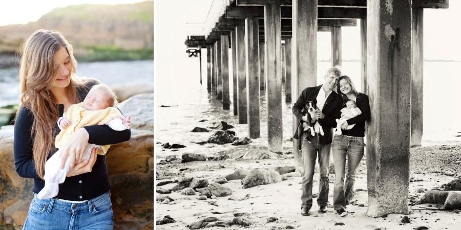pebble beach, beach club, family photos,
