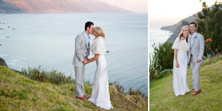 Wedding, Couple, Kissing, Point 16, Coastline, Big Sur