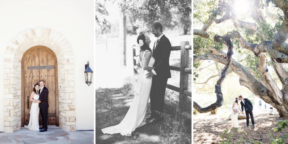Wedding, Carmel Valley, Kissing, Couple