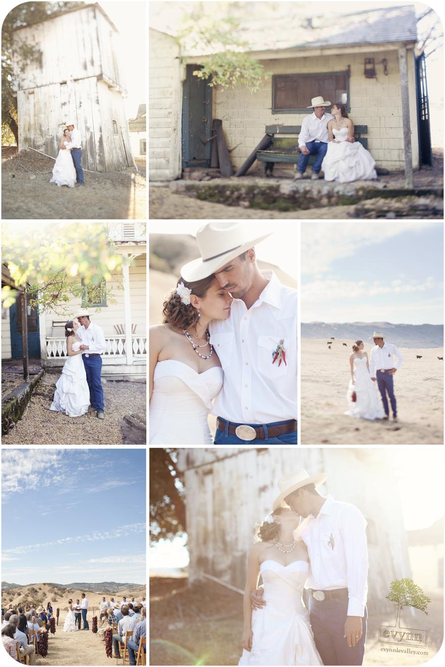 Ranch, Wedding, Carmel Valley, California, Cowboy, Couple