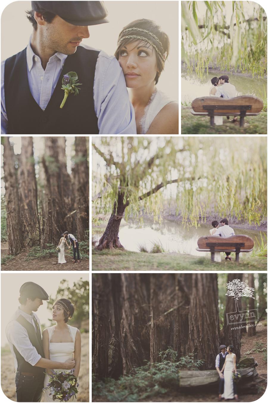 Big Sur, Post Ranch, Wedding, Elopement, Redwoods, Willow Tree, Rustic, Vintage, Couple, California