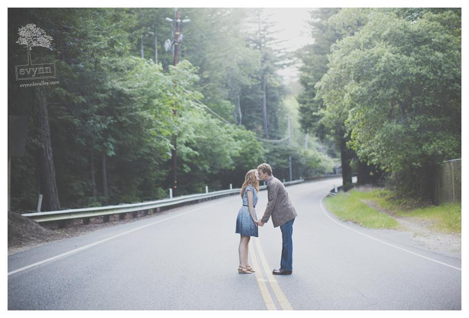 Highway 1, Big Sur, Engaged, Engagement Photos, Love, Redwoods