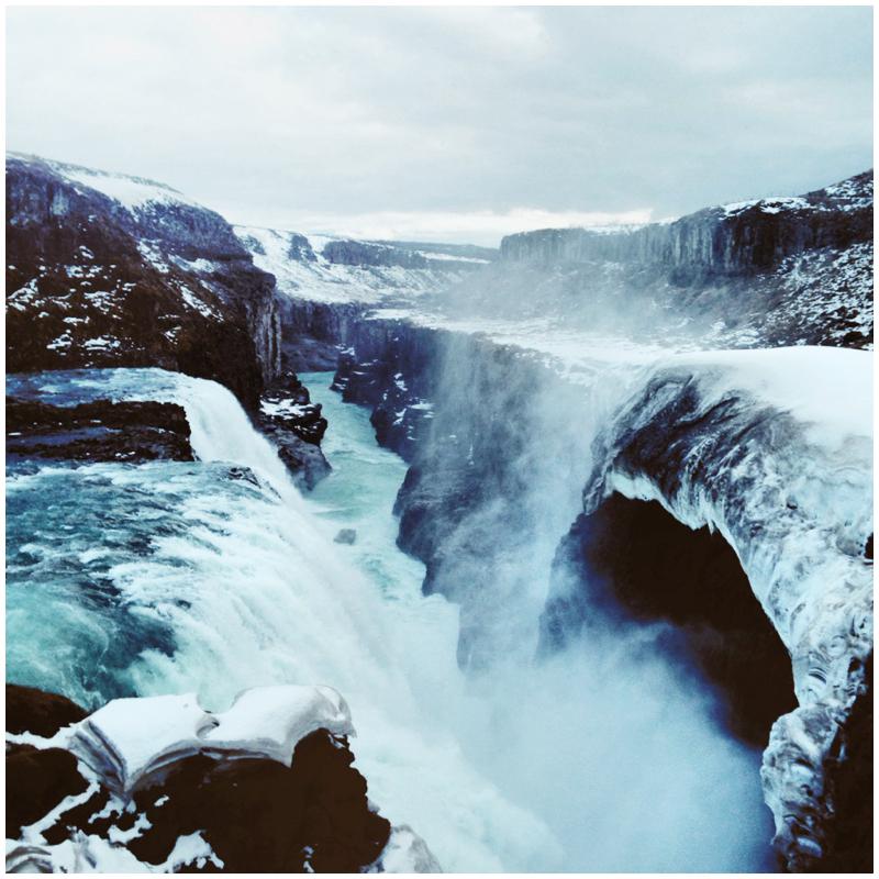 Iceland, VSCOcam, VSCO, Waterfall