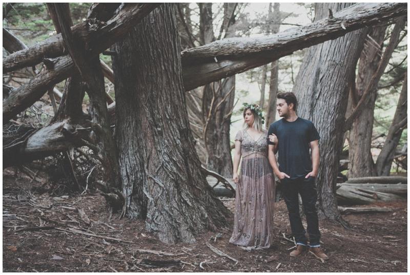 Big Sur, Elopement, Engagement, Pfieffer Beach, Woods