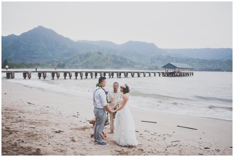 Kauai, Elopement, Hanalei Bay, Beach Wedding