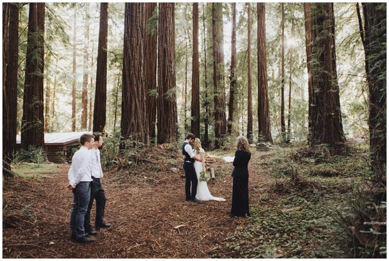 Elopement, Big Sur, Glen Oaks, Redwoods, Forest