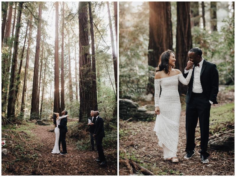 California, Redwoods, Wedding, Elopement, Forrest, Trees